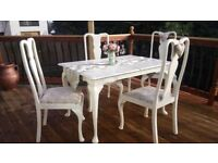 French toile du joy shabby chic dining set table chairs