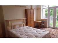 Large double room for single person or couple Own access to garden All bills included 1 week deposit