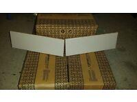 5 Packs of Light Grey Gloss Linear Tiles (300 x 100mm) - 5 square metres