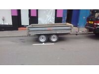 8x5 dropside flatbed trailer double axle