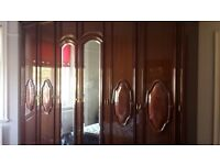 Full Italian Walnut Bedroom Set