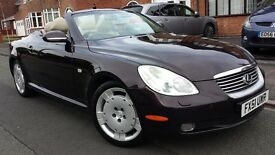 2002 LEXUS SC430 V8 CONVERTIBLE SC 430, FSH, LONG MOT, SUPERB DRIVE, SATNAV,LEATHERS,HPI CLEAR £3000