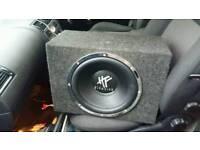 12 inch hifonics sub 1400watt with hifonics amp lights up blue