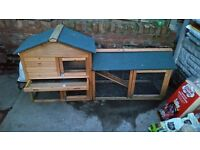 Rabbit Hutch with straw hay sawdust and food. £75.00