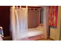 Pink Four poster bed