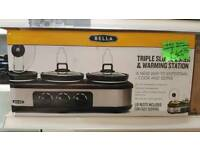 Triple slow cooker and bain marie