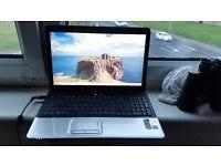 hp compaq Presario cq60 windows 7 3g memory 120g hard drive webcam wifi charger hdmi