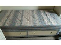 Single Divan Bed and Mattress with storage drawers