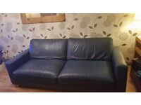 FREE Leather 3 seater and cuddle chair