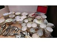 Vintage Crockery, Plates, Tea Cups and Saucers, Cutlery and Cake Plates