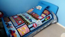 Blue Ikea Mammut Bed with Mattress!