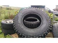 LANDROVER 4 X4 TYRES TECKNIC TRACKER MUD TERRAINS 235/85/16 X4 NEW NEVER FITTED