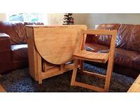 John Lewis Space Saving Dining Table & 4 Chairs