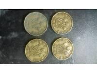 Three pence peice 1941 1942 1962