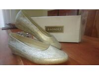 New Womens Leather Shoes made in Italy Cobra Perlato size uk 6 eu 40 RRP £110