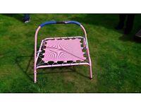 Junior pink trampoline