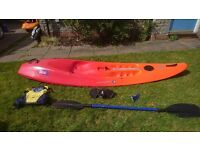 Perception Five-O Sit-On-Top Surf Kayak with paddle and buoyancy aid
