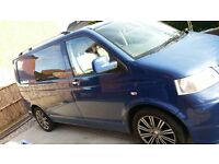 vw transporter t5, indian blue, 6 seats.