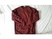 American Apparel Burgundy Crew Sweatshirt