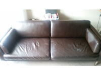 Real Leather Sofa Brown. Collection ASAP