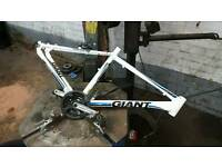 Giant bike frame with cranks