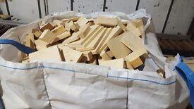 Bulk bags of softwood firewood