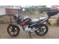 Yamaha YBR 125cc 2013, Mileage only 2,111 !!! With accessories