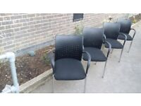 4 Black Boardroom/Meeting/Conference/Office chair £70 each