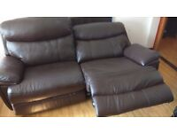 Harveys 2 seater reclining sofa can also be 2 single chairs