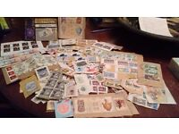 100's of Foreign Stamps in 6 albums and loose