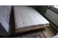 Nearly new double futon bed, mattress and topper