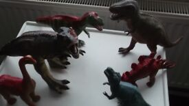 50 toy dinosaurs