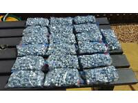 19 packs of (51) M10 20mm bolts & nyloc nuts