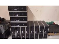 11 HP PC'S. With Monitor, keyboard,mouse Joblot for cheap !