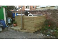 Pond with decking