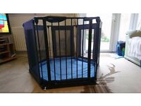 *Sold *Lindam Safe & Secure Fabric Play Pen