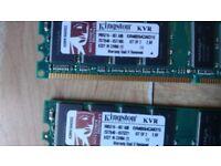 RAM Memory 2GB (1GBx2) Kingston KVR400X64C3AK2/1G