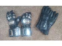 Leather Motor bike gloves