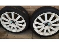 Fiesta ST150 alloy wheels & tyres x 8