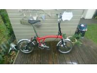 Brompton M3L Folding Bike. TOTALLY Mint Condition. With Brompton Saddle Cover