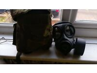 Brithish army gas mask with carry case