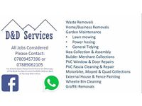 D&D Services - Van Man - Power Washing - Waste Removal - Mobile Car Valeting