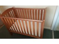 Mothercare Solid Real Wood Changing Table & Baby Cot R.R.P £300