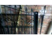 Wrought-iron driveway gates x2