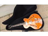Alden Western Star semi acoustic gretsch style guitar