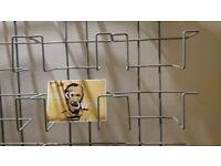 Metal postcard wall rack, 4 columns, 40 pockets in total