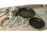 Saucepan and Frying Pan Set