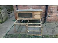4ft rabbit hutch and run