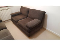 Charcoal Grey Chenille Sofa - One of Two - £75