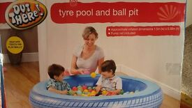 tyre pool and ball pit